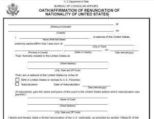 Oath Renunciation