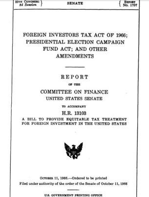 Foreign Investors Tax Act of 1966