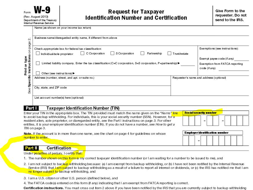 Irs W9 Form Fillable Dolapgnetband