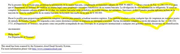 Fake FBAR Notice p2