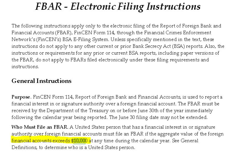 1970 Dollars The Current Day Us10000 Fbar Threshold Reporting