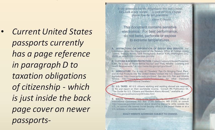 american passport last page - photo #15
