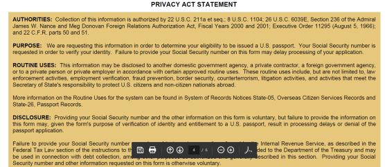 application for US passport p6