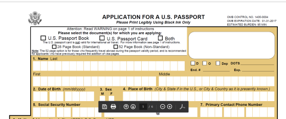 application for US passport p7