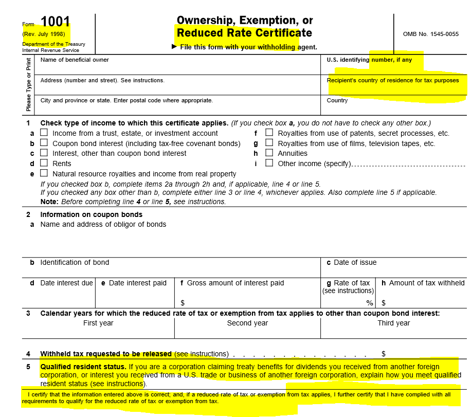 IRS Form W8 « Tax-Expatriation
